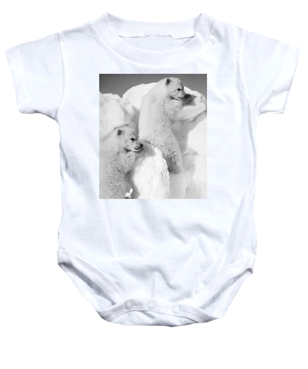 20th Century Baby Onesie featuring the photograph Polar Bear Cubs by Granger