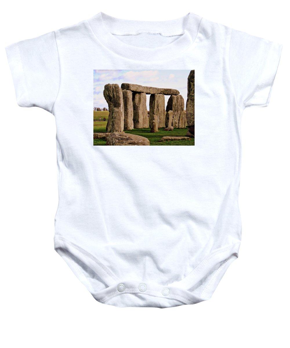 Stonehenge England United Kingdom Uk Baby Onesie featuring the photograph Stonehenge England United Kingdom Uk by Paul James Bannerman