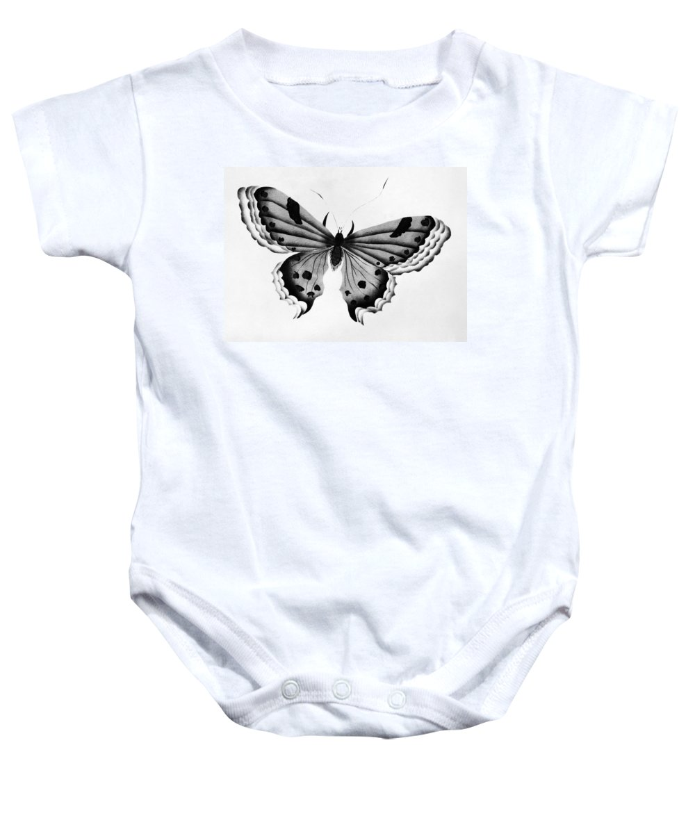 Animal Baby Onesie featuring the photograph Butterfly by Granger