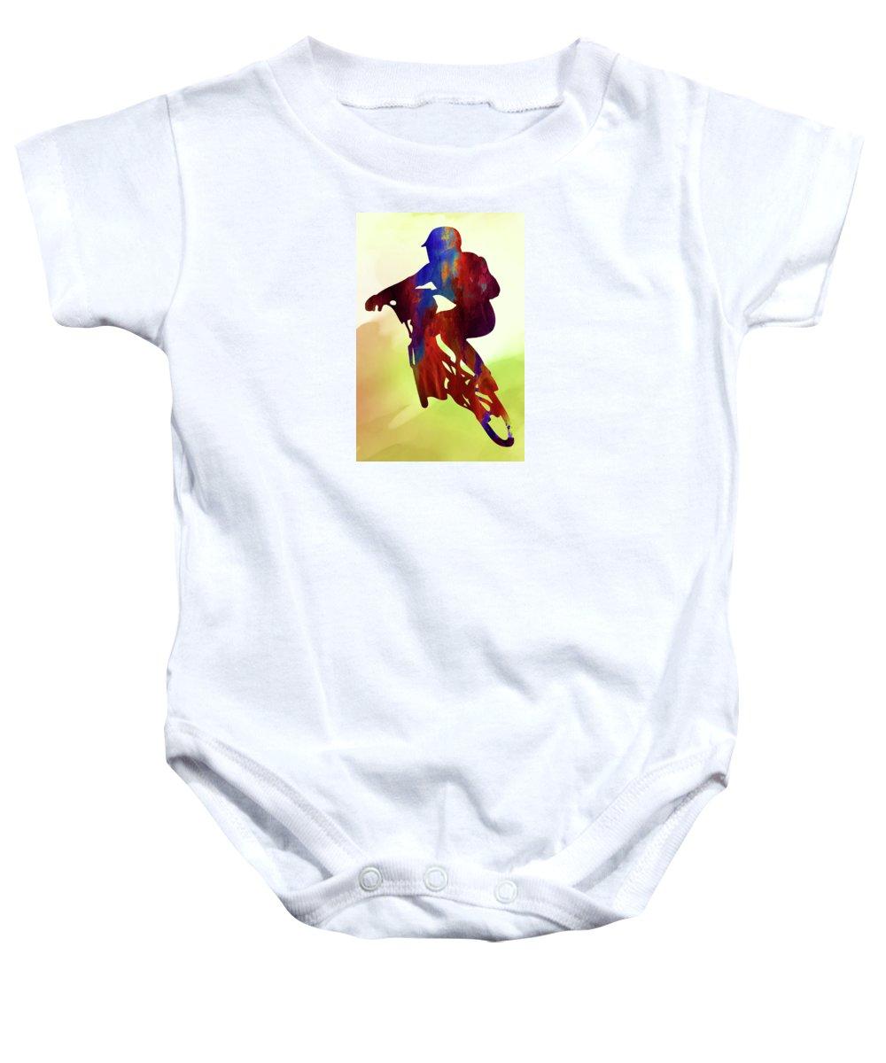 Sport Baby Onesie featuring the digital art Racer by Elena Kosvincheva