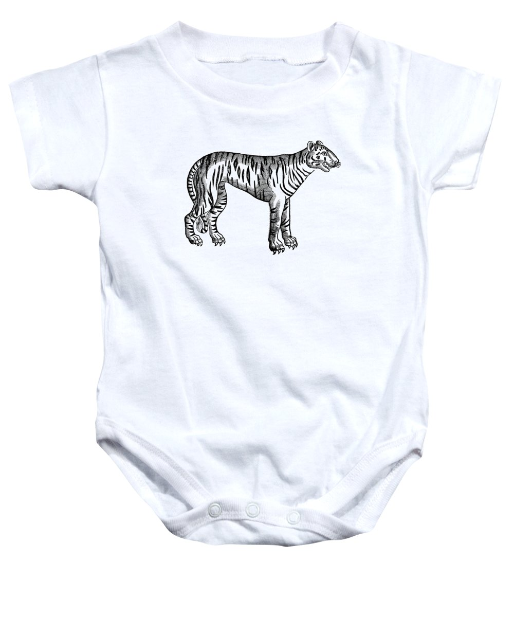 1607 Baby Onesie featuring the photograph Tiger by Granger