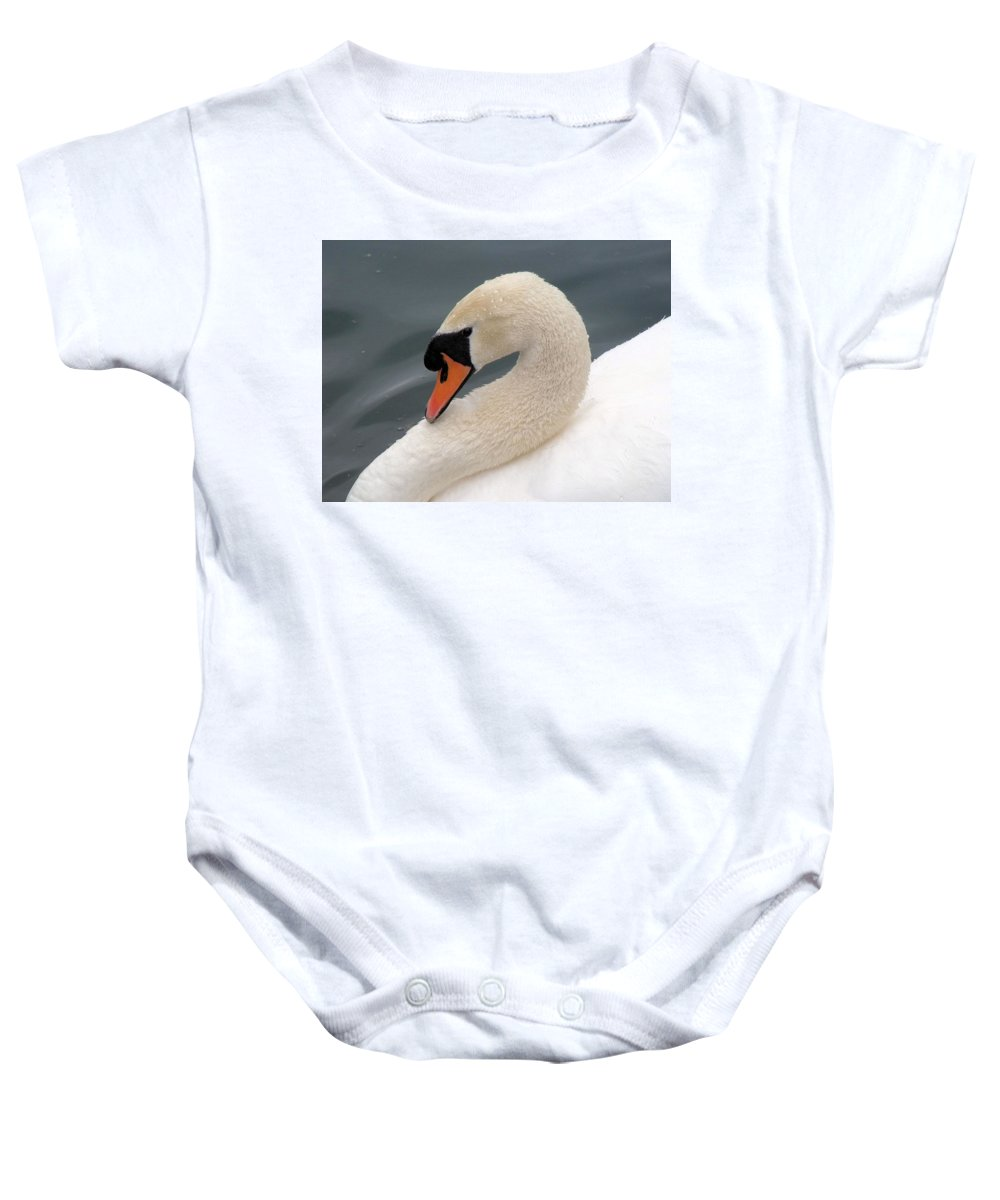 Swan Baby Onesie featuring the photograph Swan by FL collection