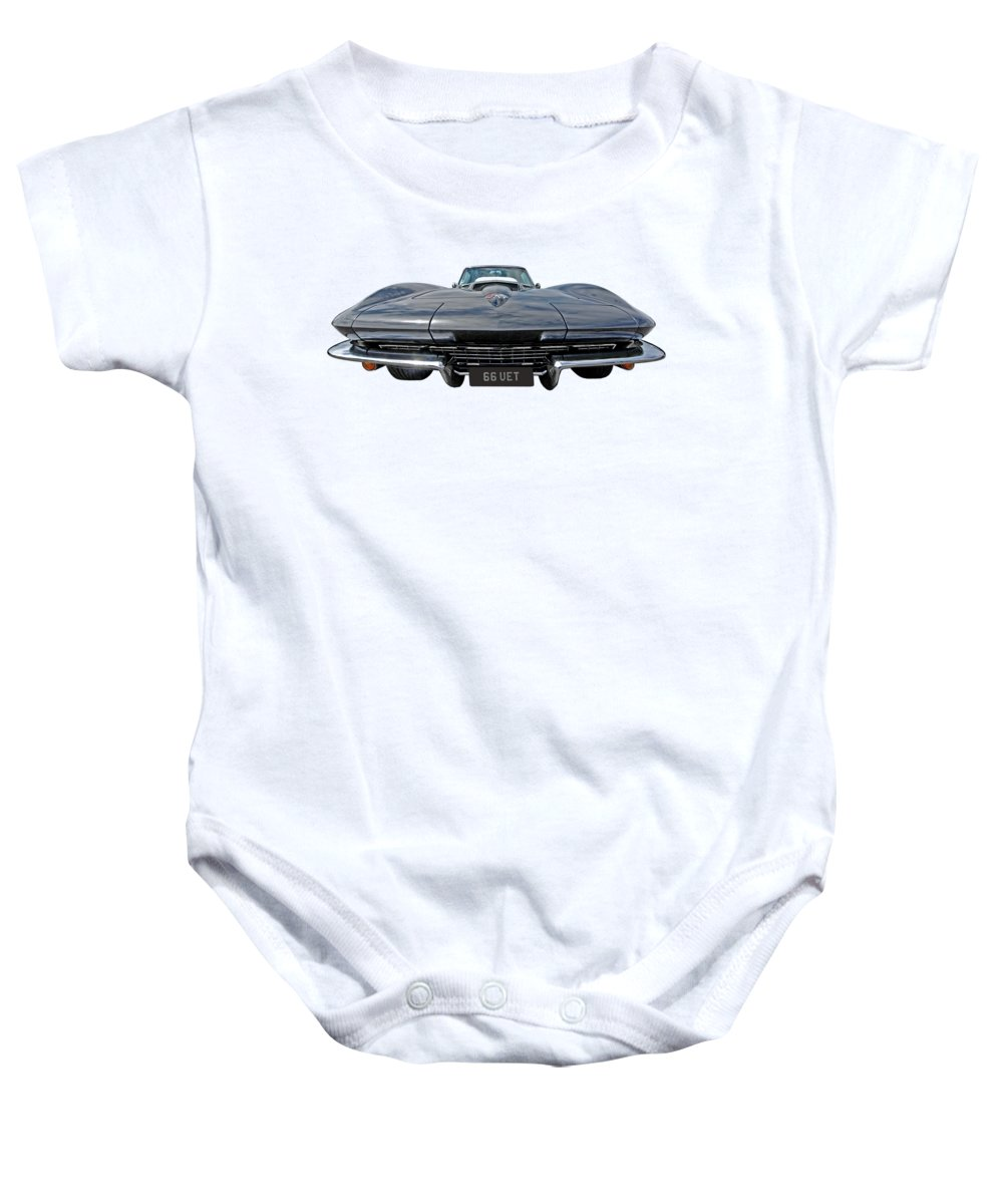 Corvette Stingray Baby Onesie featuring the photograph 66 Vette Stingray by Gill Billington