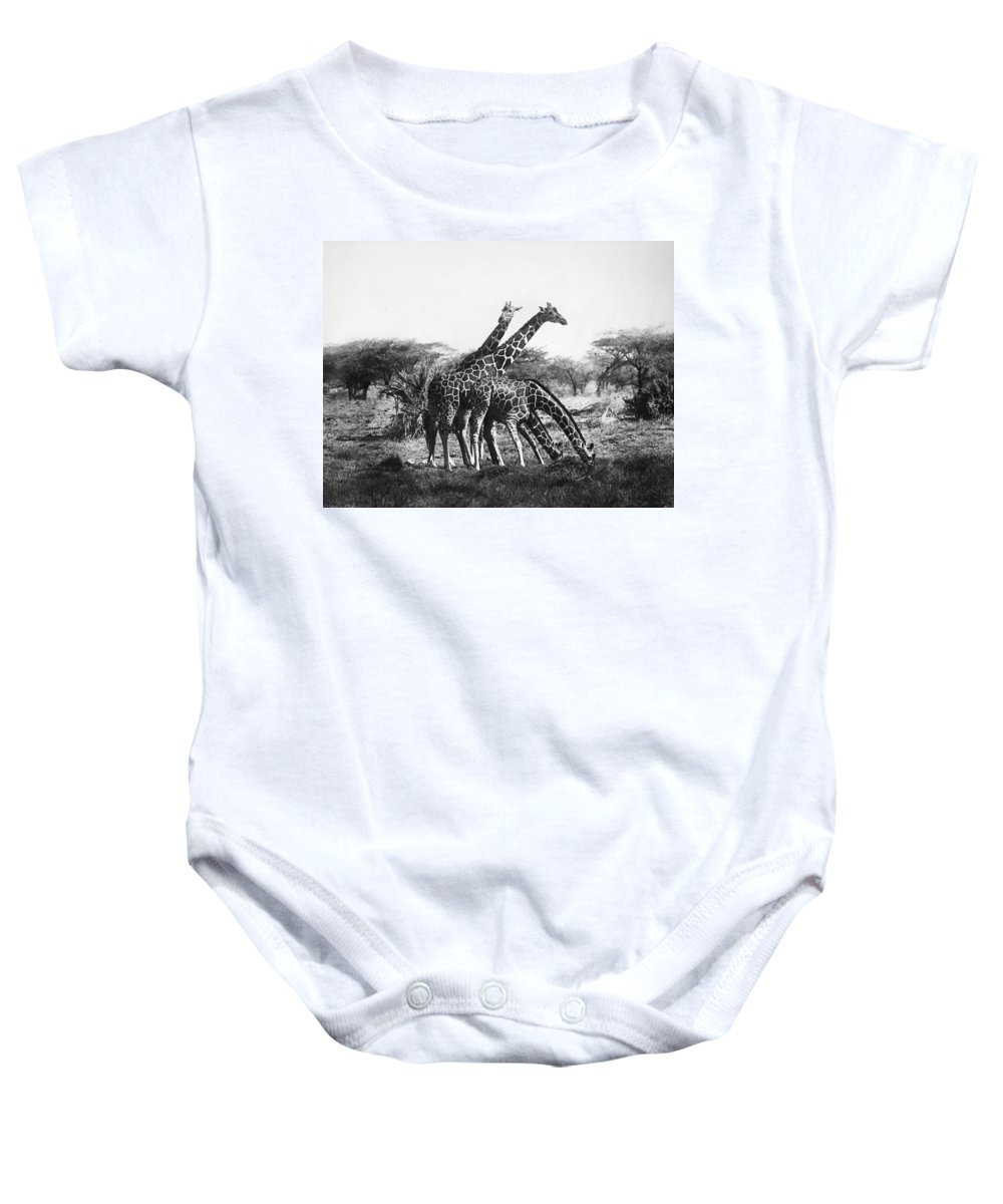 20th Century Baby Onesie featuring the photograph Giraffe by Granger
