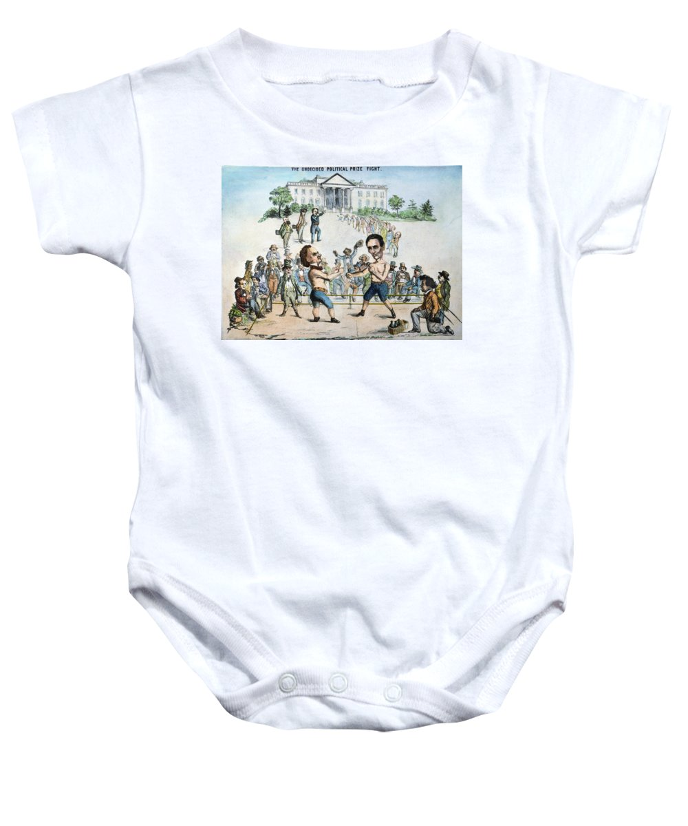 1860 Baby Onesie featuring the photograph Presidential Campaign, 1860 by Granger