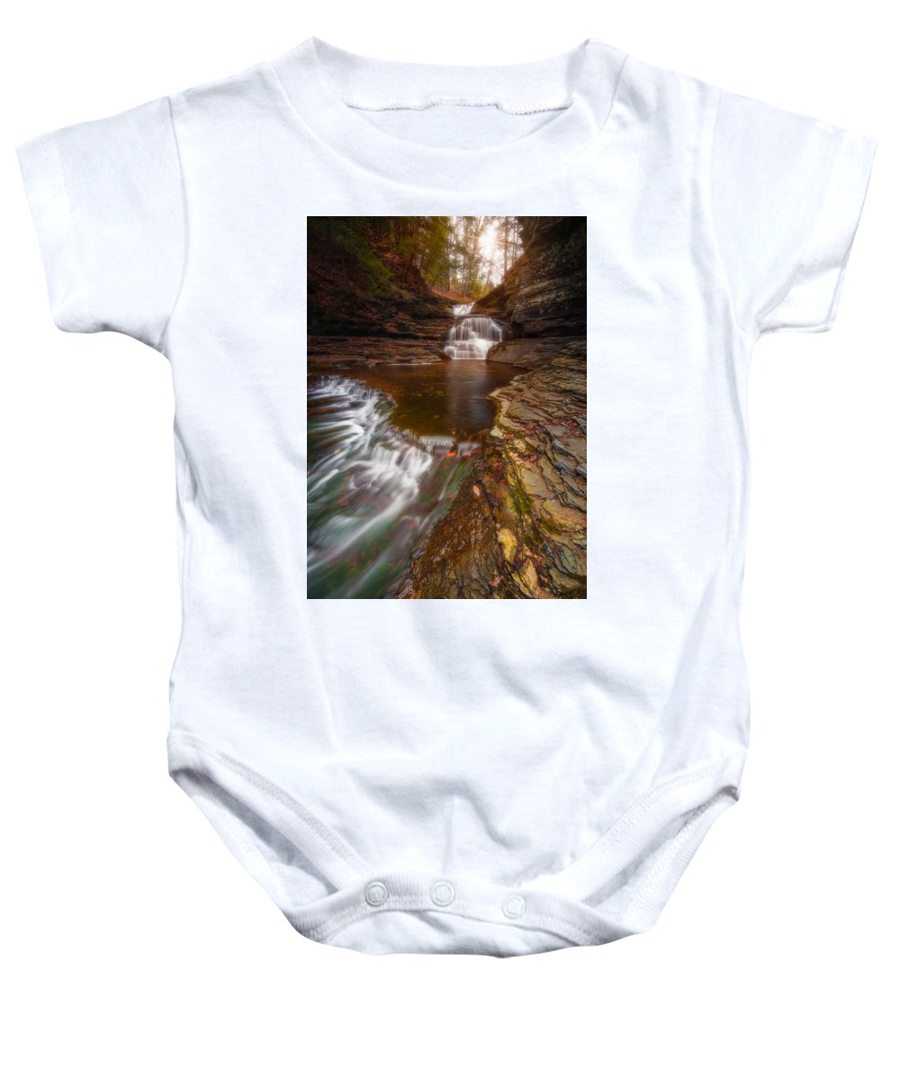 Water Baby Onesie featuring the photograph A Dying Breed by Joshua Snow