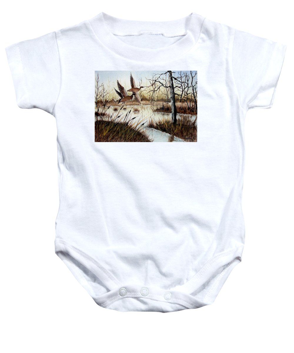 Art Baby Onesie featuring the painting A 'jerry Yarnell' Study by Jimmy Smith