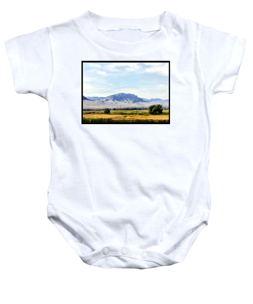 Digital Art Baby Onesie featuring the painting A Sleeping Giant by Susan Kinney