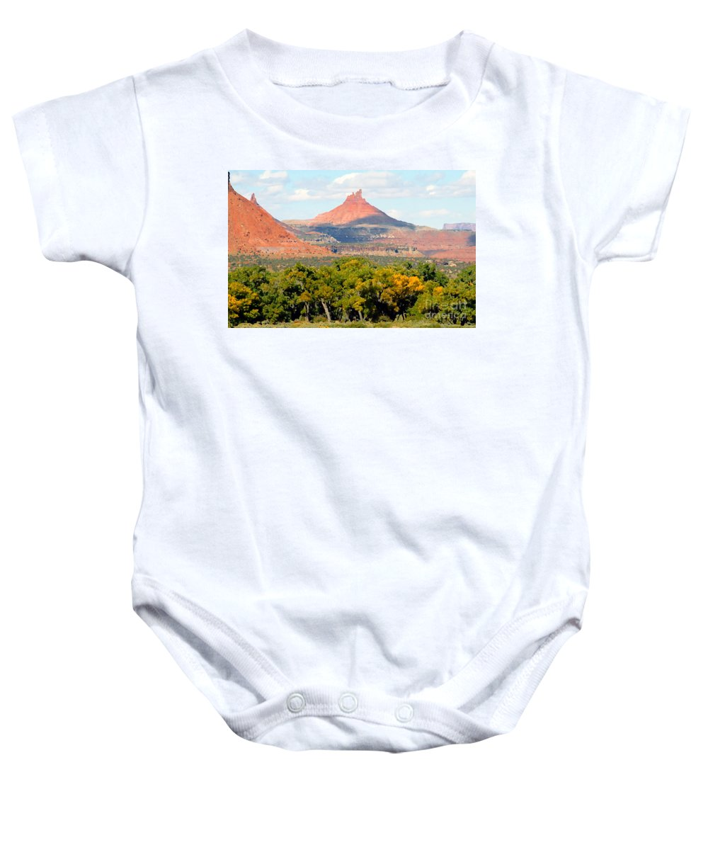 Fall Baby Onesie featuring the photograph A Touch Of Fall by David Lee Thompson
