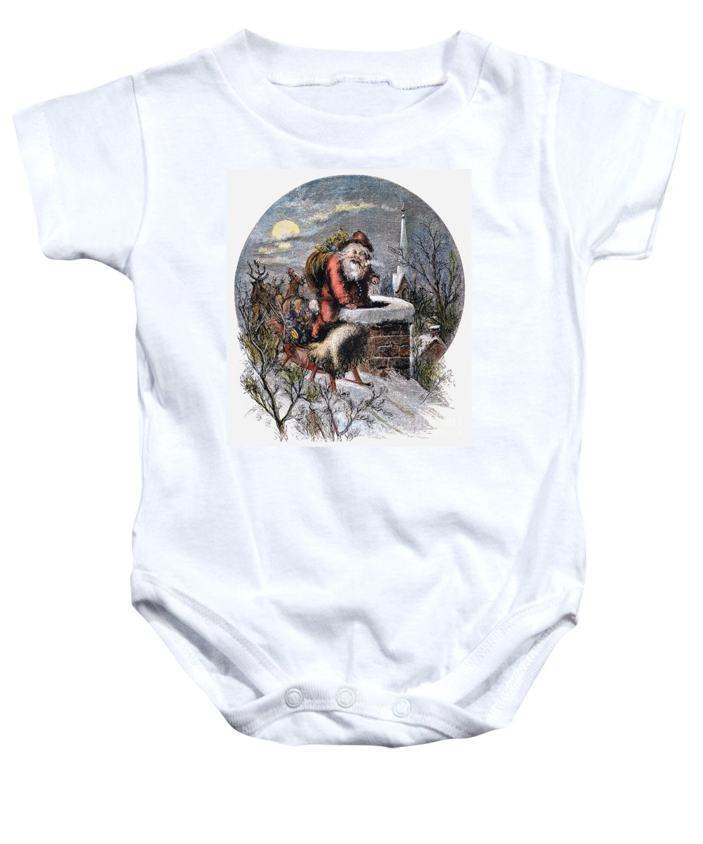19th Century Baby Onesie featuring the photograph A Visit From St Nicholas by Granger