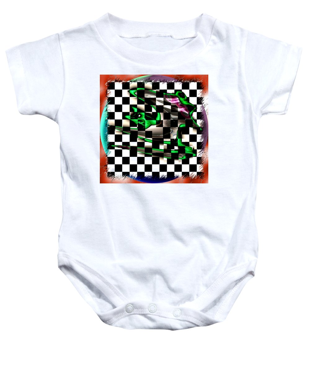 Abstract Art Baby Onesie featuring the digital art Abstract Composition 506 by Mario Carini