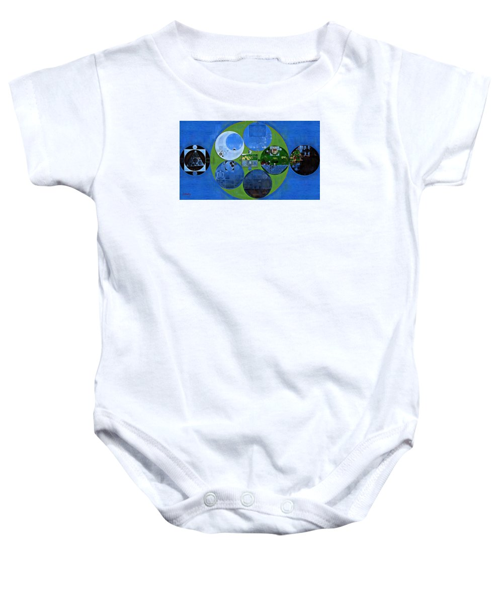 Art Baby Onesie featuring the digital art Abstract Painting - Everglade by Vitaliy Gladkiy
