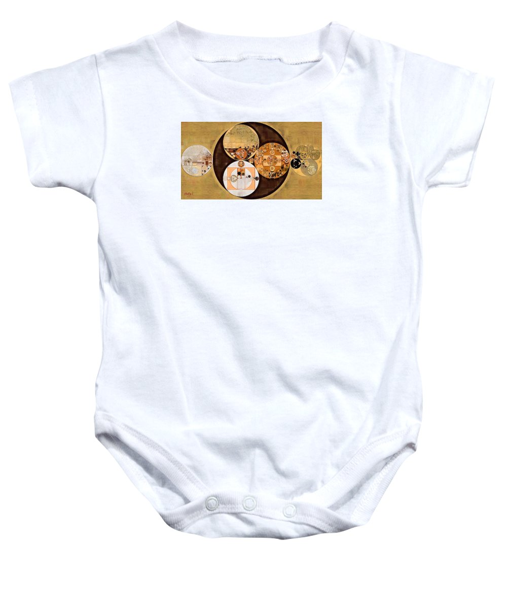 Composition Baby Onesie featuring the digital art Abstract Painting - New Tan by Vitaliy Gladkiy
