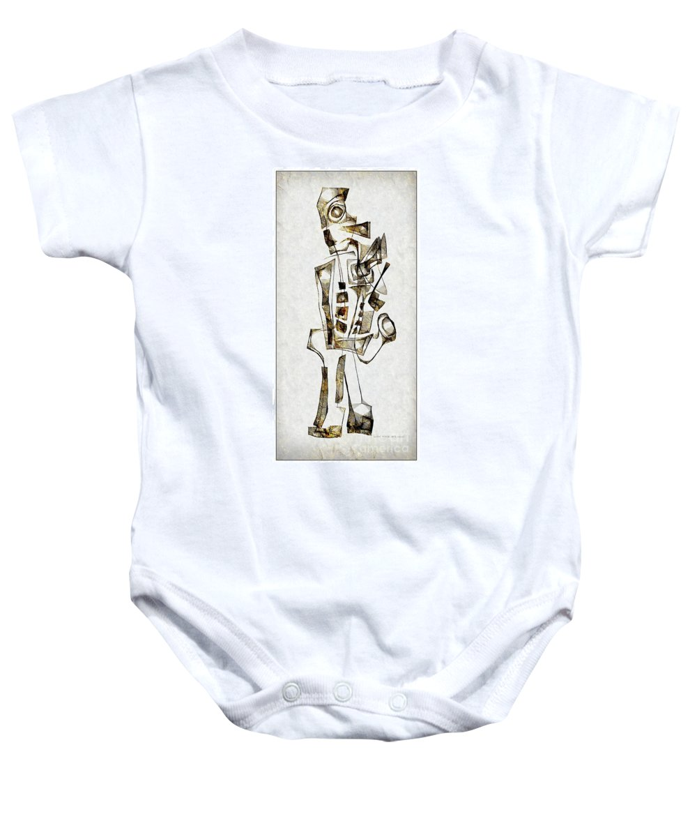 Abstraction Baby Onesie featuring the digital art Abstraction 2843 by Marek Lutek
