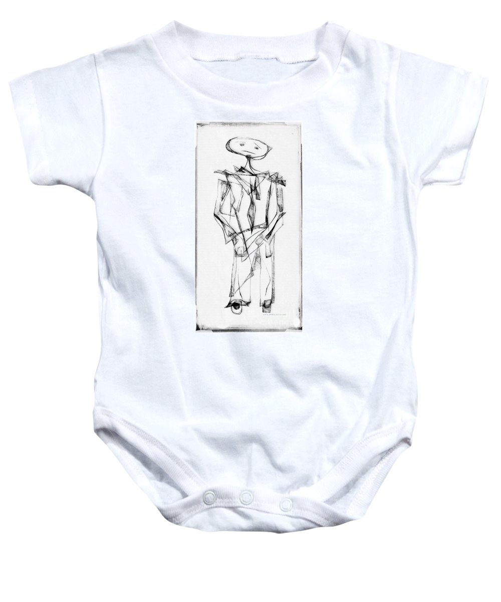 Abstraction Baby Onesie featuring the digital art Abstraction 2852 by Marek Lutek