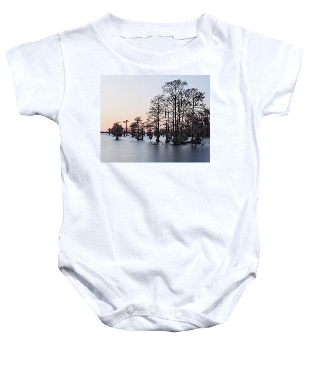 Water Baby Onesie featuring the photograph After Sunset by April Copeland