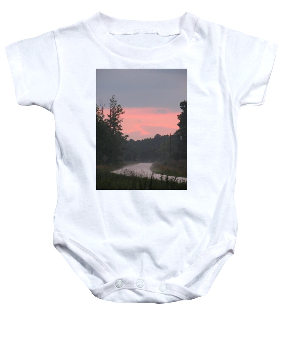 Storm Baby Onesie featuring the photograph After The Storm by Kelly Mezzapelle