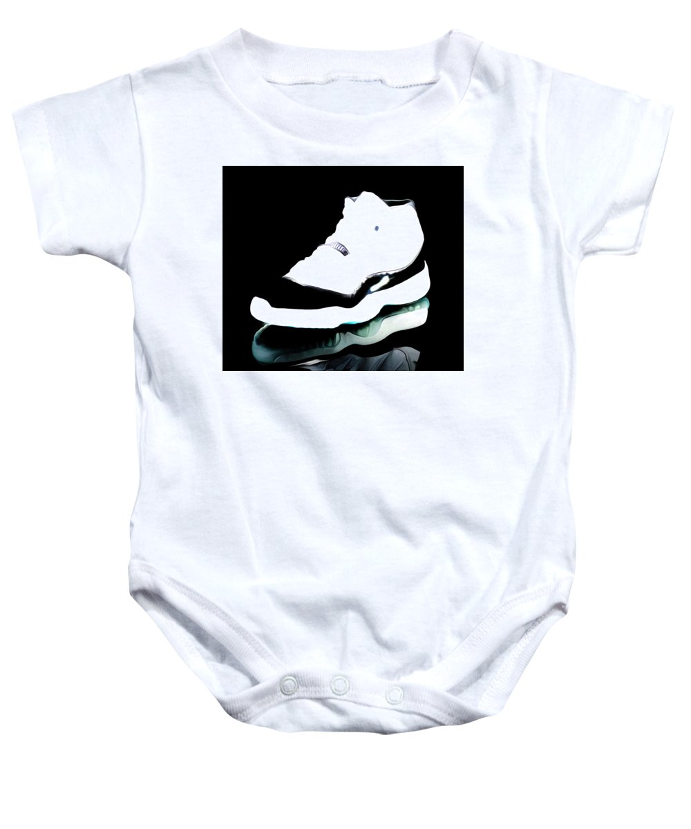 fb50bb368d0 Michael Jordan Baby Onesie featuring the mixed media Air Jordans S3 by Brian  Reaves