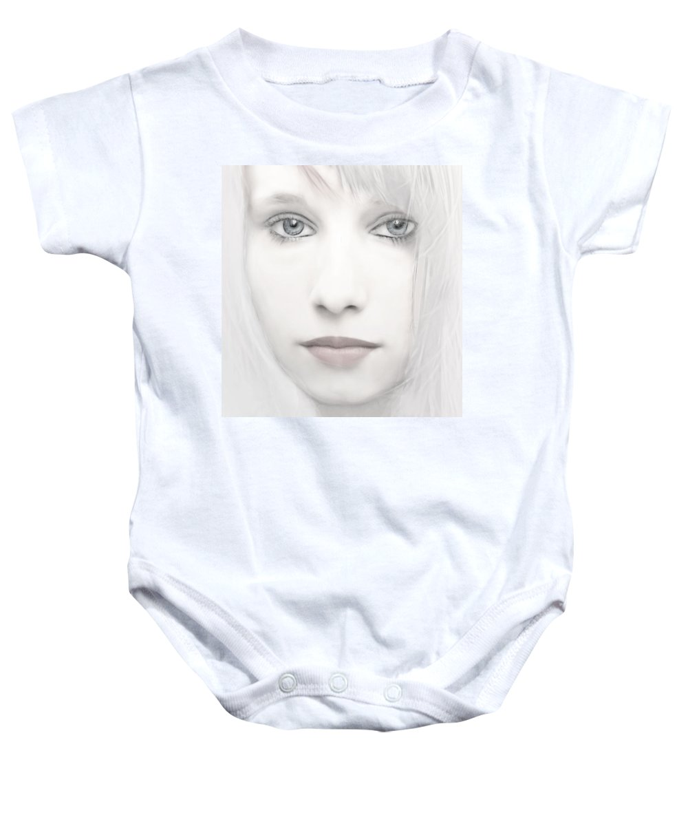Woman Baby Onesie featuring the photograph Alabaster-face by Joachim G Pinkawa