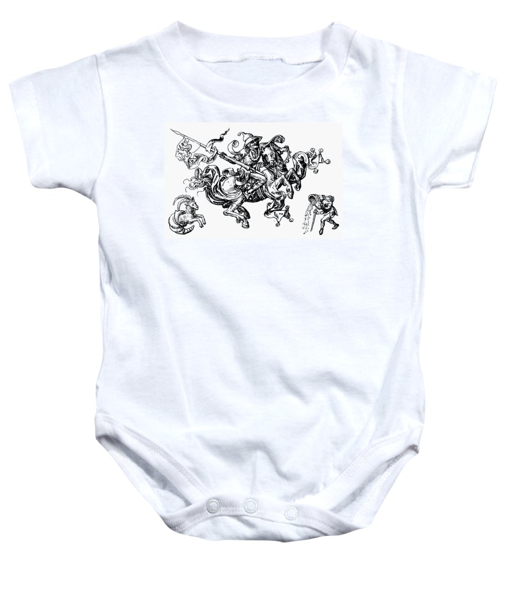 1480 Baby Onesie featuring the photograph Allegory Of Saturn, 1480 by Granger