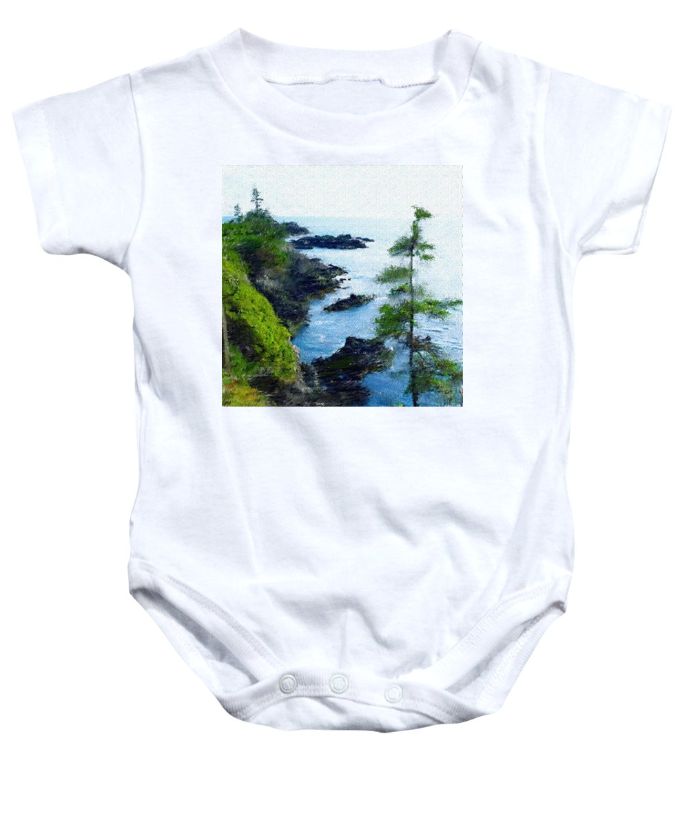 Digital Photograph Baby Onesie featuring the photograph Along The West Coast 1 by David Lane