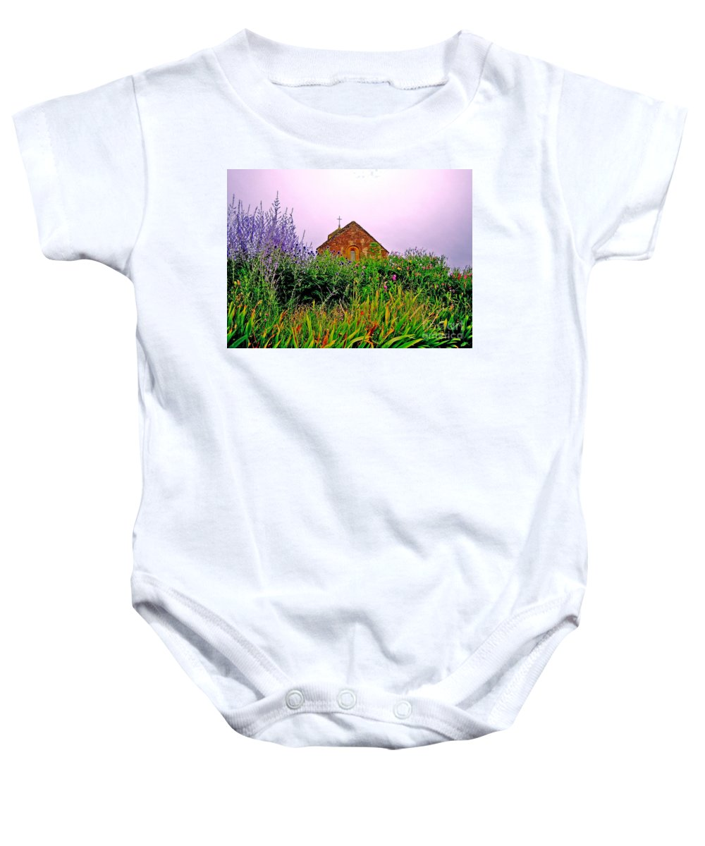 Chapel Baby Onesie featuring the photograph Ameugny 3 by Jeff Barrett