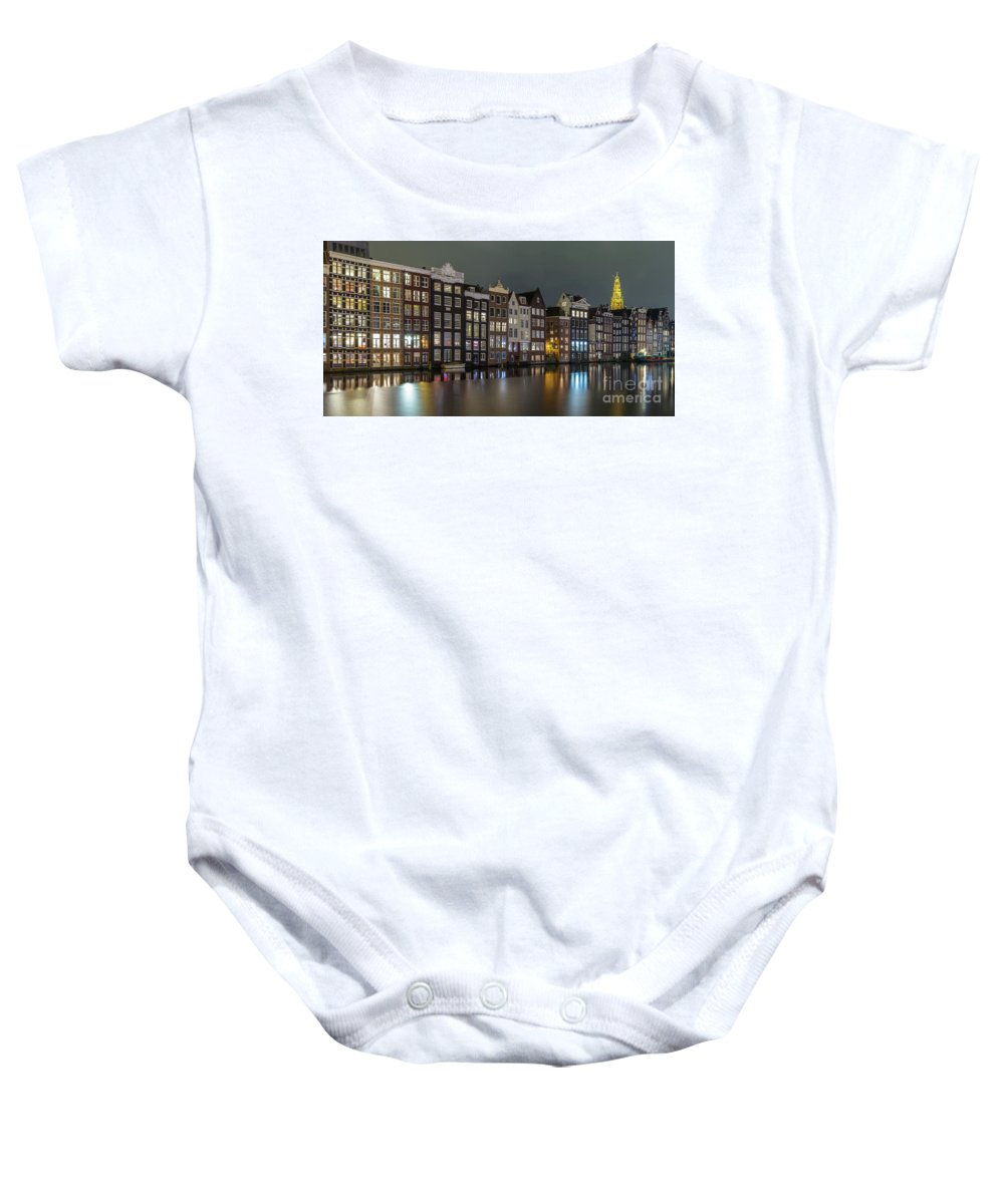 Amsterdam Baby Onesie featuring the photograph Amsterdam City Lights by Menno Schaefer