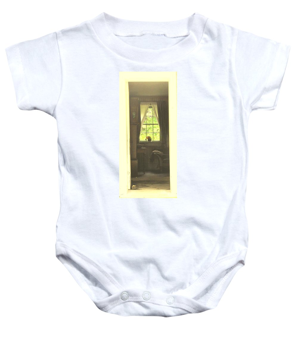 Pioneer Baby Onesie featuring the photograph An Open Door by Ian MacDonald