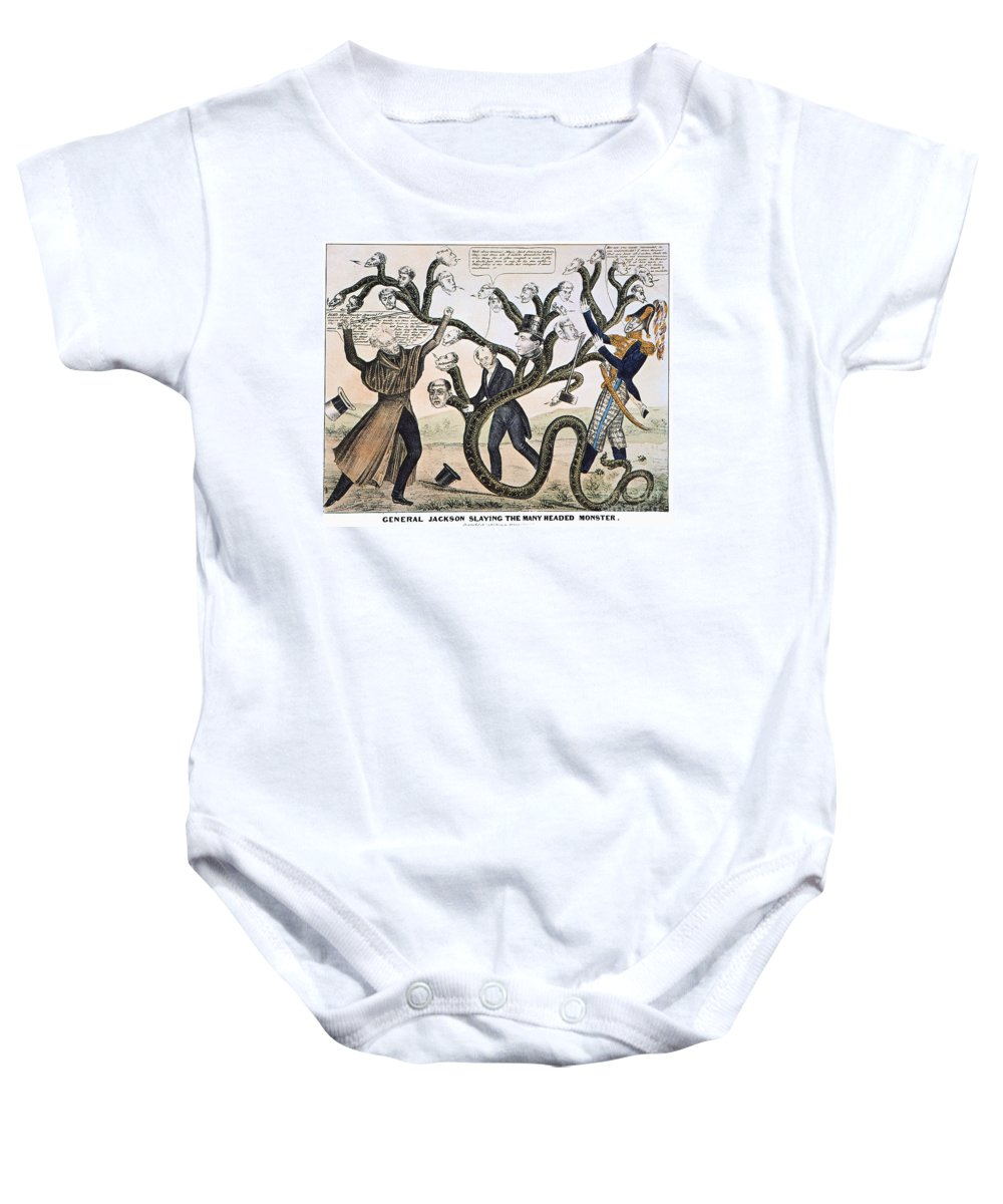 1828 Baby Onesie featuring the photograph Andrew Jackson (1828) by Granger