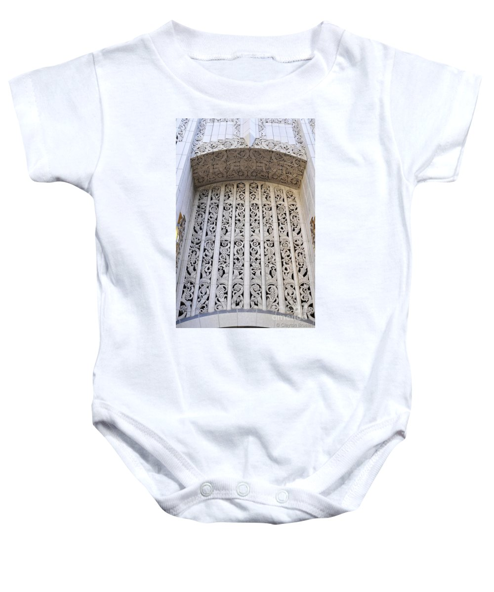 Clay Baby Onesie featuring the photograph Architecture Downtown Los Angeles by Clayton Bruster