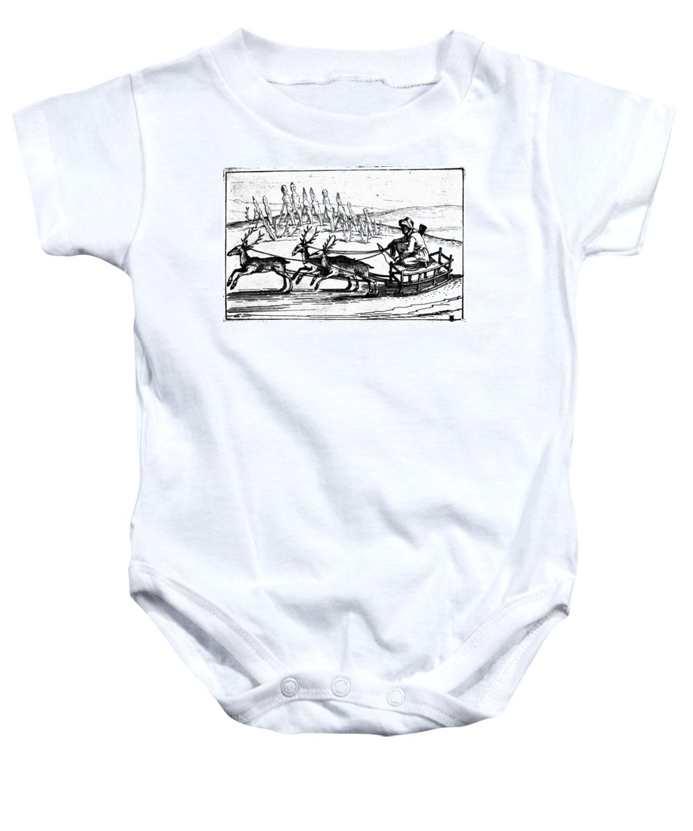 1618 Baby Onesie featuring the photograph Arctic Sledding, C1618 by Granger