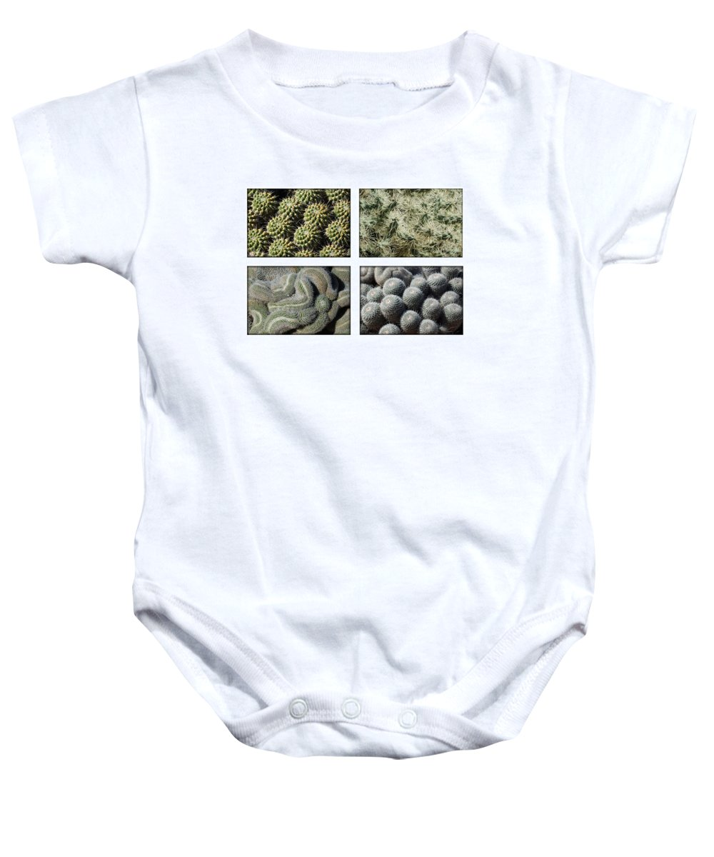 Cactus Baby Onesie featuring the photograph Arizona Cacti by Jill Reger