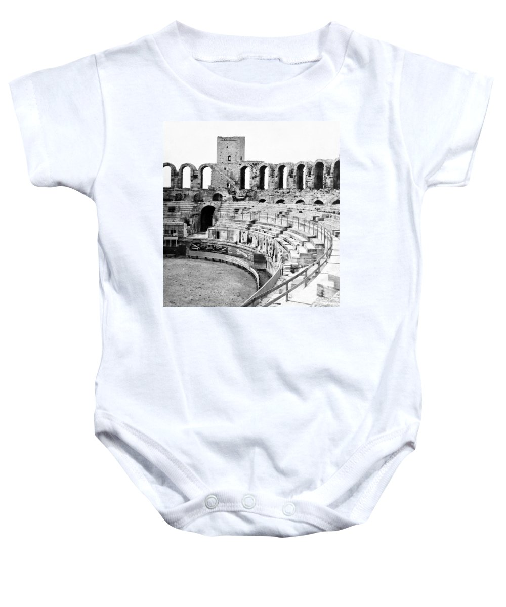 Arles Baby Onesie featuring the photograph Arles Amphitheater A Roman Arena In Arles - France - C 1929 by International Images