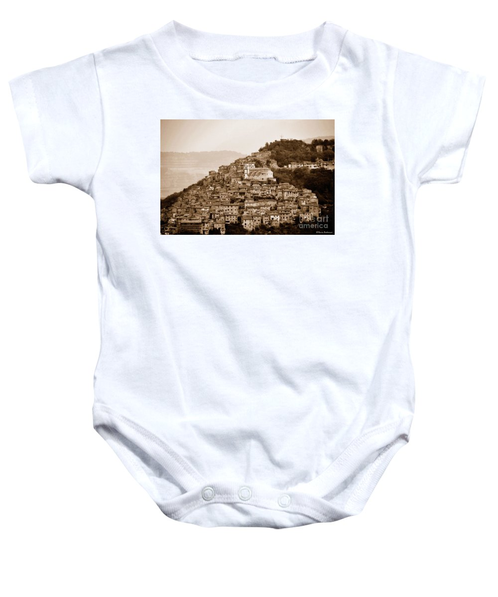 Antique Photo Baby Onesie featuring the photograph Artena by Ilaria Andreucci