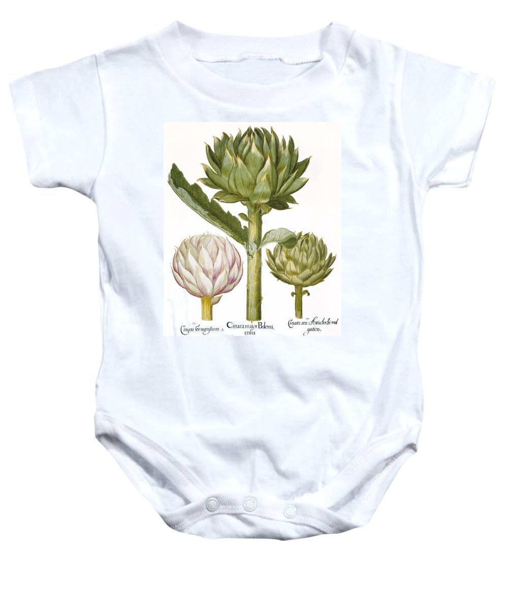 1613 Baby Onesie featuring the photograph Artichoke, 1613 by Granger