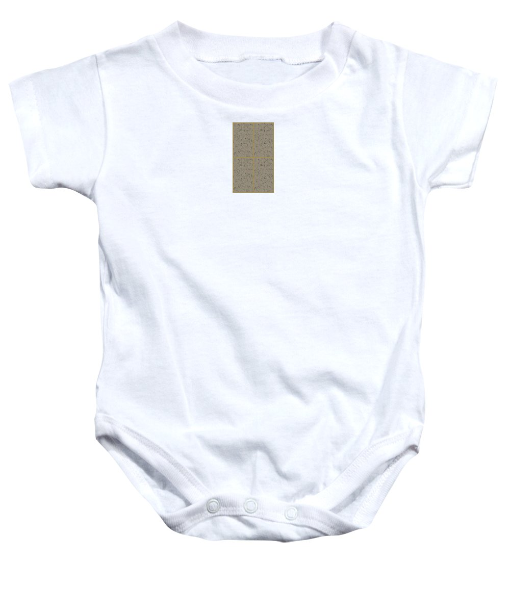 Earth. Texture. Earthtexture. Digital. Art. Digitalart. Artdigital. Carlos Duarte. 4. Four. 4cloros. Carlos Duarte Baby Onesie featuring the digital art Earthtexturegold by Carlos Duarte