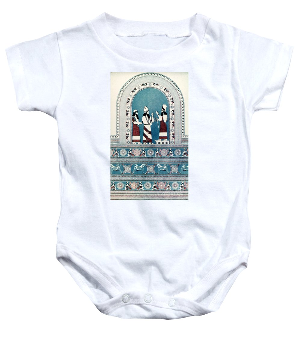 720 B.c. Baby Onesie featuring the photograph Assyrian King, C720 B.c by Granger