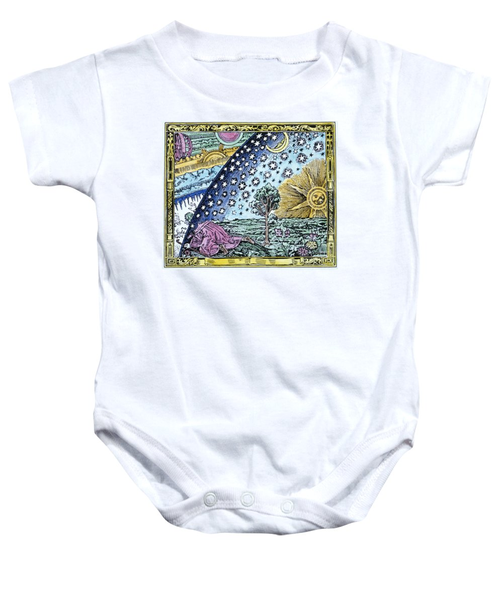 1530 Baby Onesie featuring the photograph Astronomer, 1530 by Granger