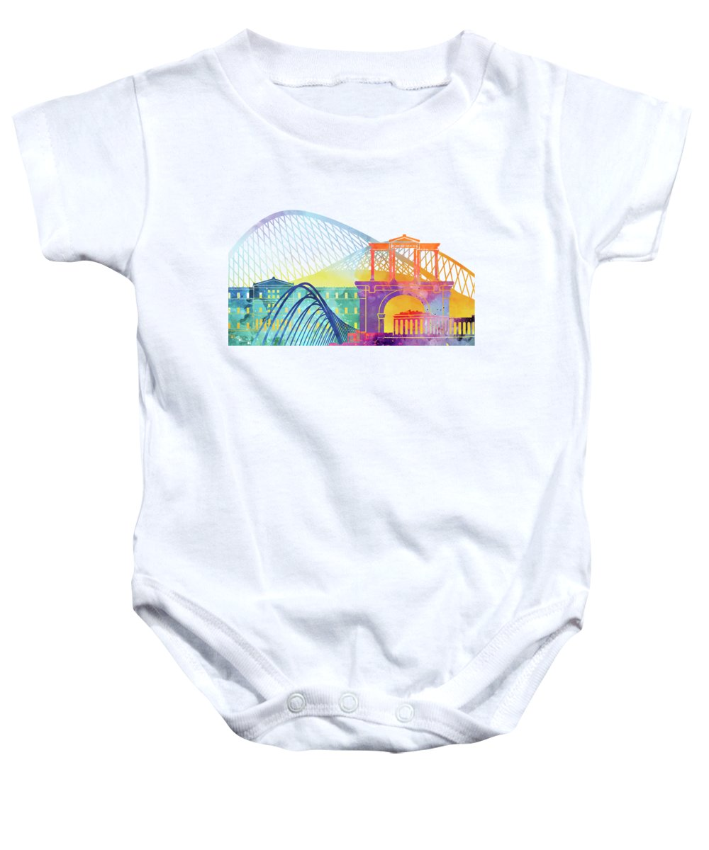 Europe Baby Onesie featuring the painting Athens Landmarks Watercolor Poster by Pablo Romero