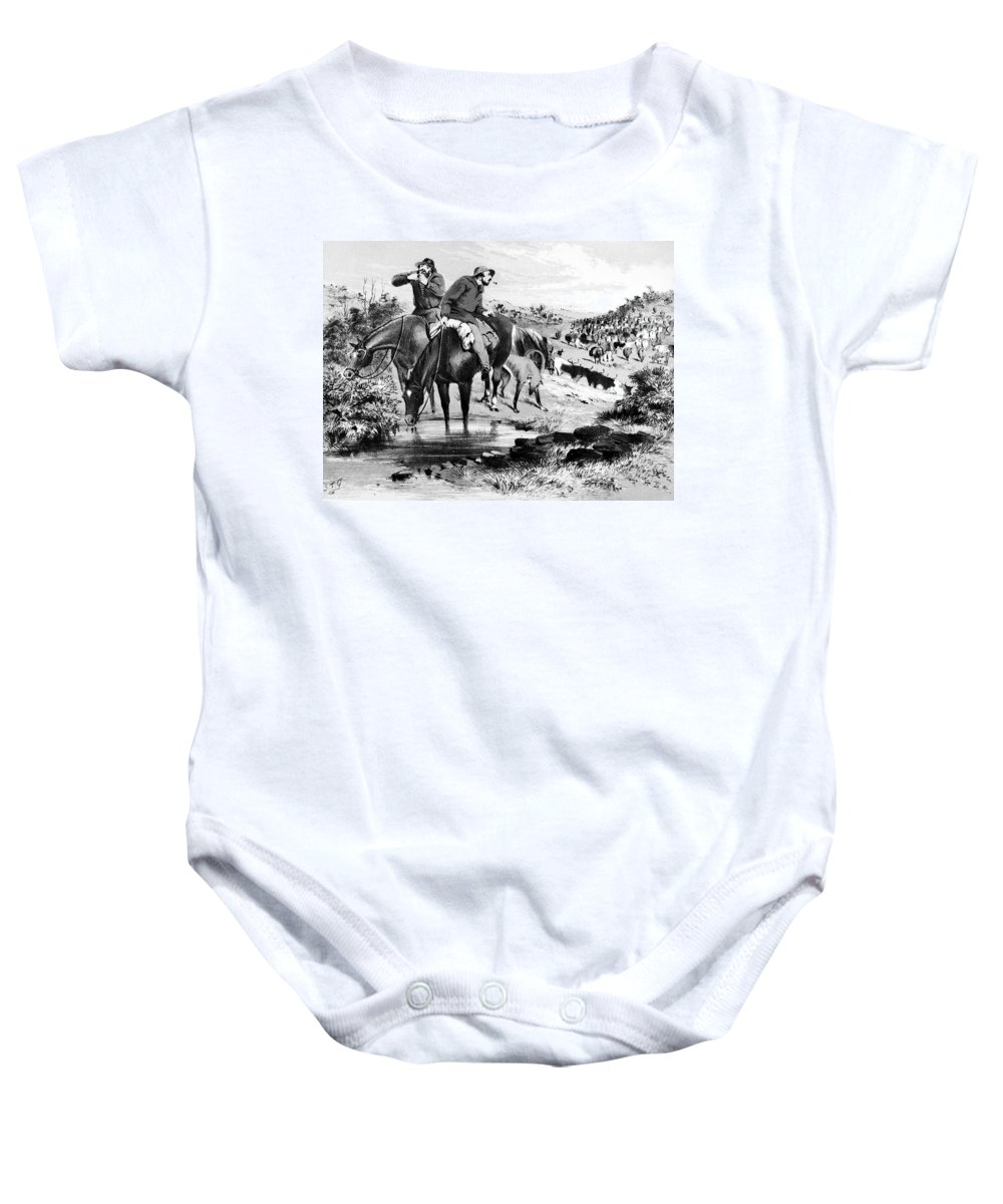 1864 Baby Onesie featuring the photograph Australia: Cowboys, 1864 by Granger