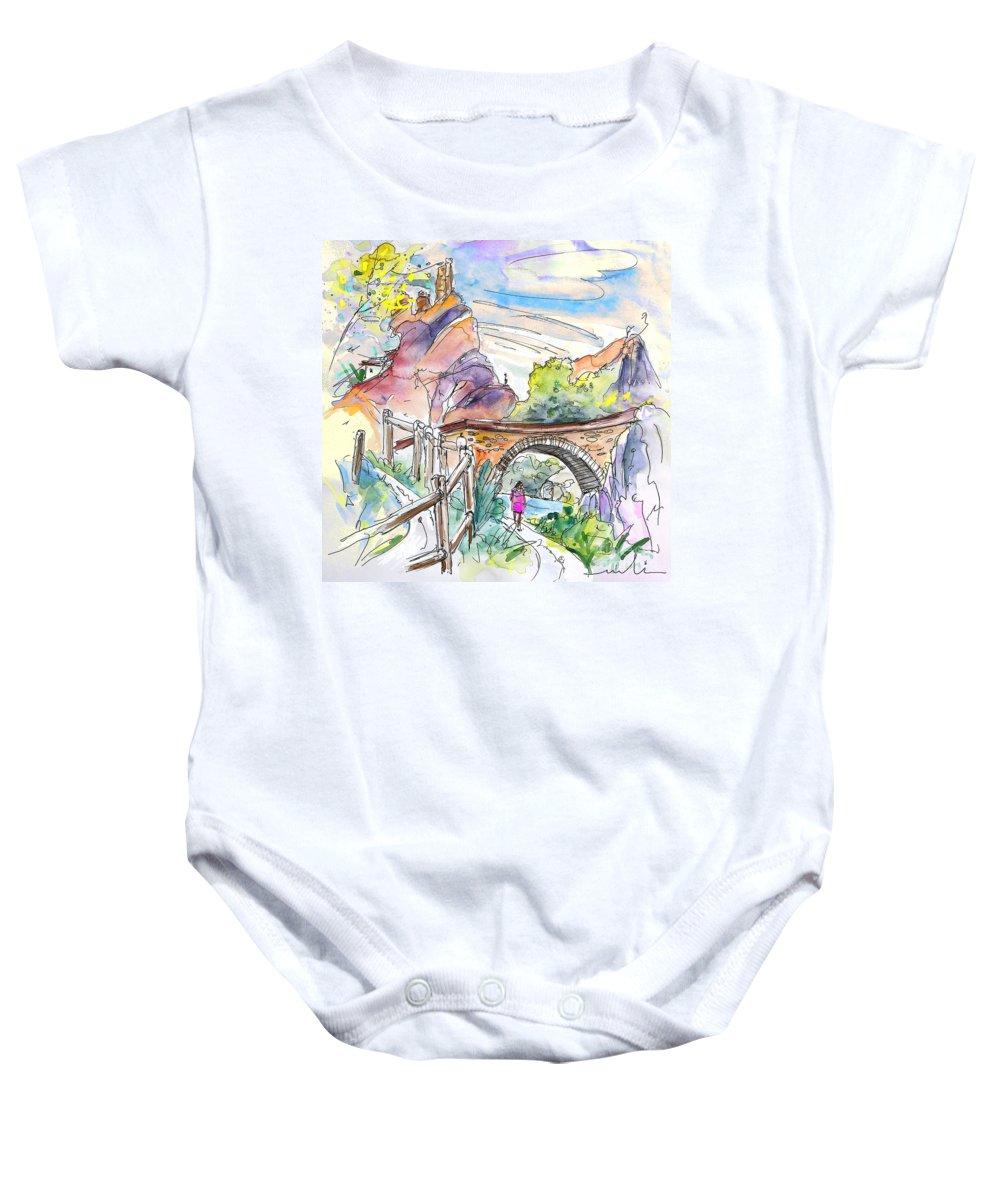 Arnedillo Baby Onesie featuring the painting Autol In La Rioja Spain 02 by Miki De Goodaboom
