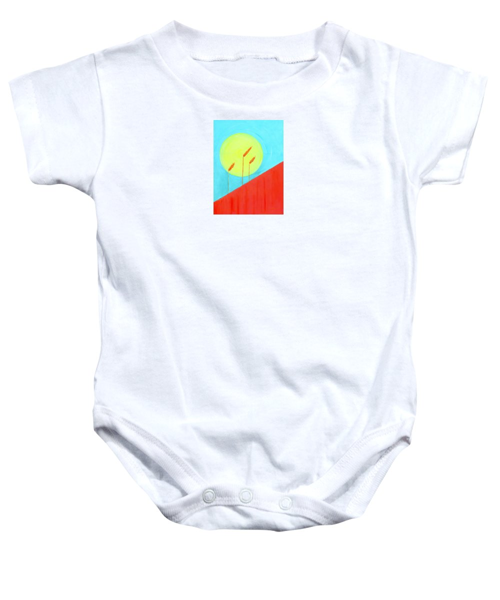 Impressionist Painting Baby Onesie featuring the painting Autumn Harvest by J R Seymour