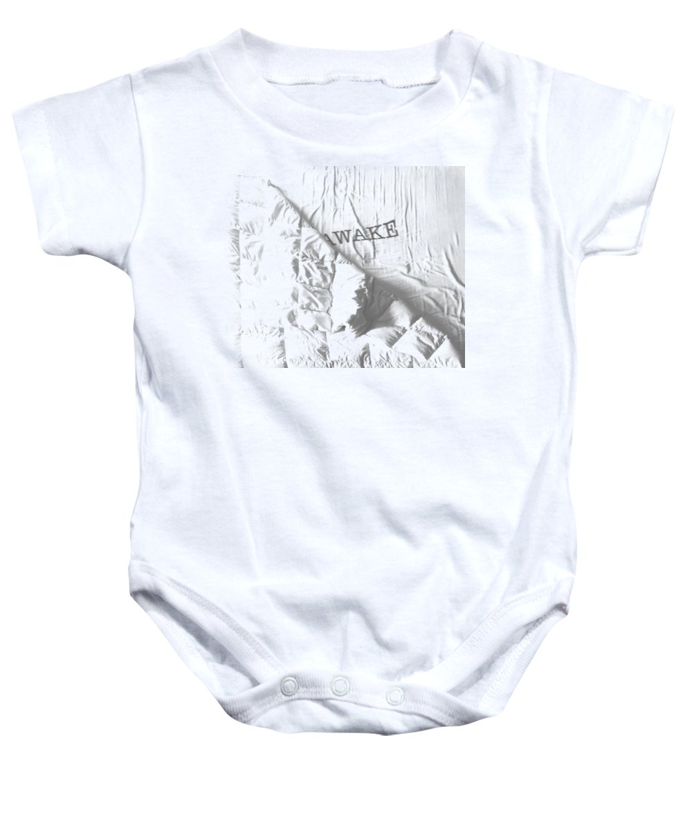 Blanket Baby Onesie featuring the digital art Awake by Filippo B