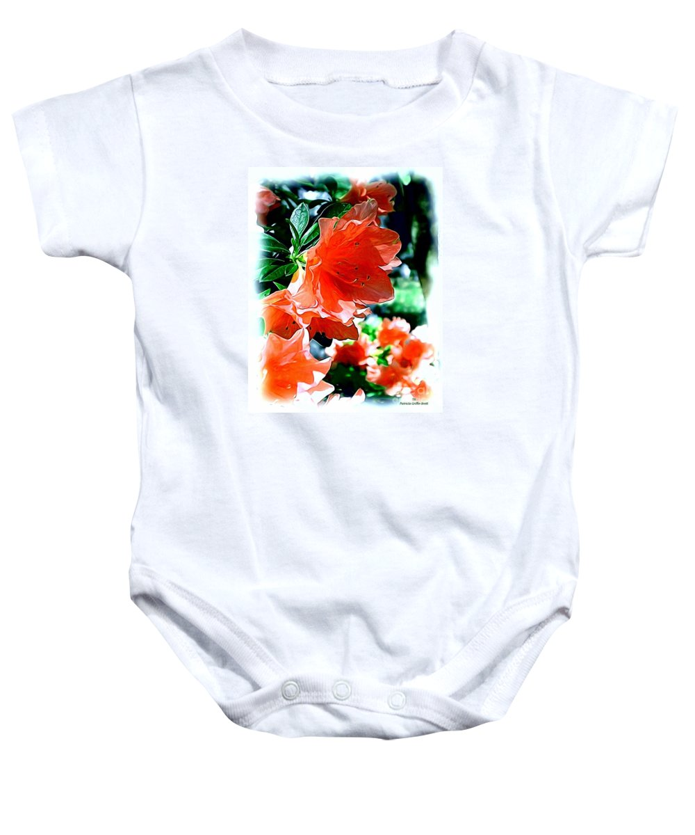 Fine Art Baby Onesie featuring the painting Azaleas In The Spring by Patricia Griffin Brett