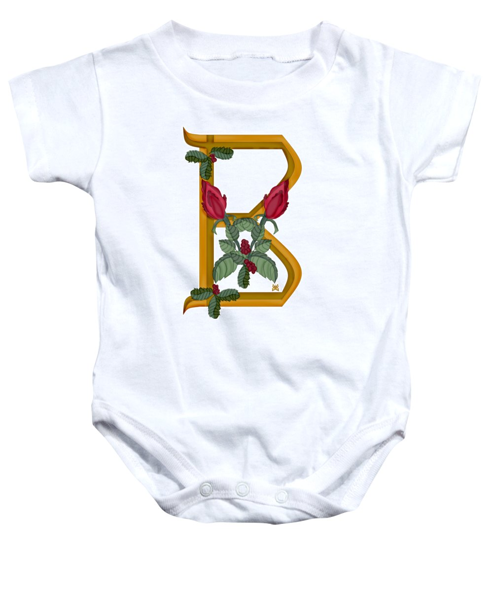 B Baby Onesie featuring the painting B Is For Beauty by Anne Norskog