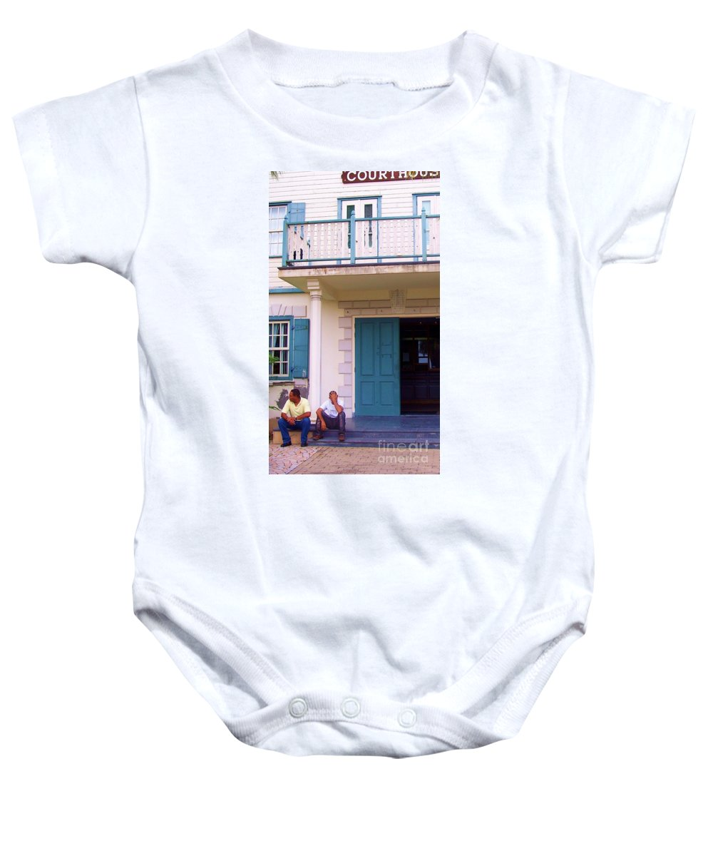 Building Baby Onesie featuring the photograph Bad Day In Court by Debbi Granruth