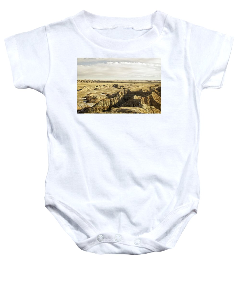 Badlands Baby Onesie featuring the photograph Badlands 2 by Ingrid Smith-Johnsen