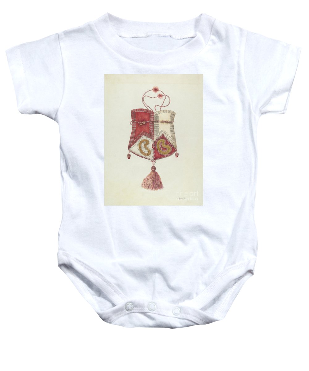 Baby Onesie featuring the drawing Bag by Cornelius Christoffels