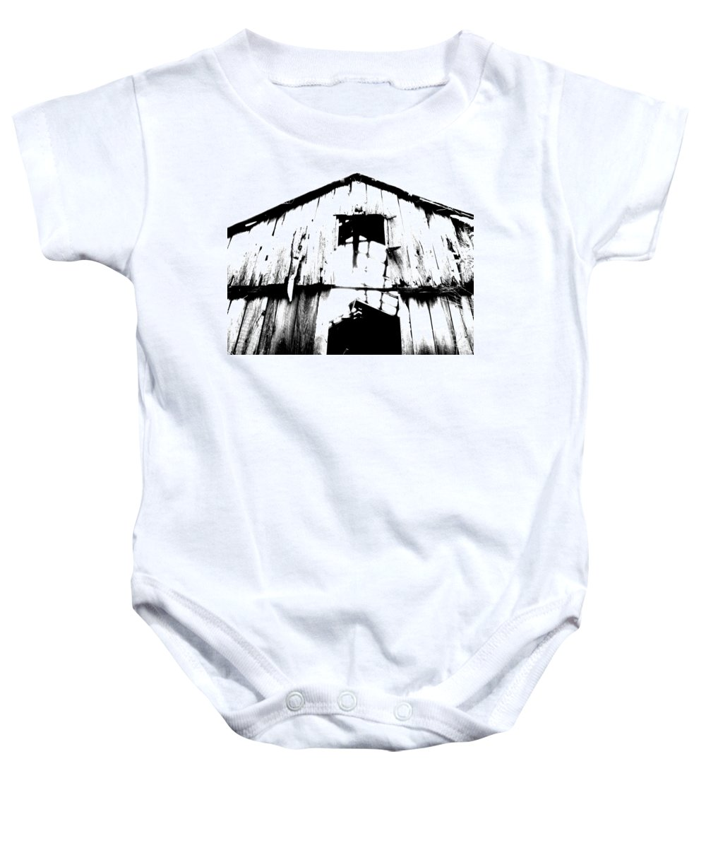 Barn Baby Onesie featuring the photograph Barn by Amanda Barcon