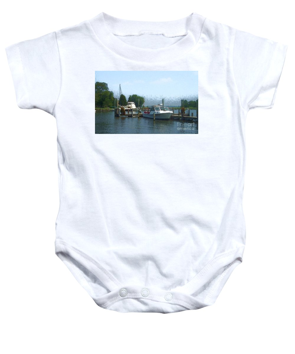 Boat Baby Onesie featuring the photograph Beached Buoys by Debbi Granruth